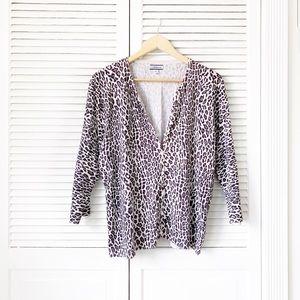 Croft & Barrow Leopard Print Knit Cardigan NWOT